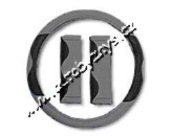 Potah volantu šedý+návleky bezpečnostních pásů - sada 31420