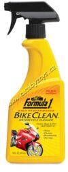 Čistič motocyklů  473ml Formula 1-Čistič motocyklů. Speciální přípravek pro kompletní péči o motocykl. Rychle a snadno odstraňuje nejodolnější zažranou silniční špínu, olejové a asfaltové skvrny, zbytky hmyzu. Bezpečný pro veškeré povrchy : chrom, lakované plochy, pryž, plastové díly. Chrání před vlivy počasí, obnovuje barvy a navrací lesk.