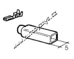Návlek izolační na objímku 2,8mm