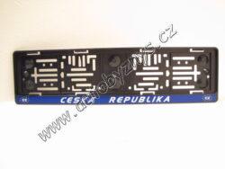 Podložka SPZ(RZ) černá ČR-EU 91535