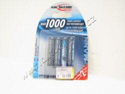 BATERIE Micro NiMH 4xAAA 1000 mAh Digital Ansmann dobíjecí-sada 4ks-Skladem poslední sada!