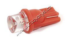 Žárovka 12V T10 1LED červená