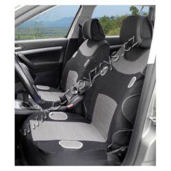 Potahy sedadel LAS VEGAS přední-2ks šedé 31626-Potahy sedadel s univerzálním systémem upevnění, sada na přední sedadla (2x přední díl s opěrkami hlavy).  Díky jednoduchému systému upevnění, lze připevnit na většinu běžně používaných automobilových sedadel. technická data: barvačerno-šedá sada2x přední sedadlo opěrka hlavyano, 2x materiál100% polyester na sedadla s airbagyne
