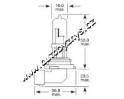 Žárovka 12V HB3 100W MODRÁ -sada 2ks