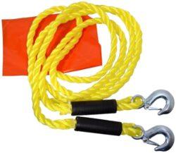 Autolano tažné 1800kg s karabinami-Lano je určeno k vlečení motorových vozidel do okamžité hmotnosti 1 800 kg. Zakončeno háky z kovu, vybaveno červeným praporkem. Délka lana 3,2 m.