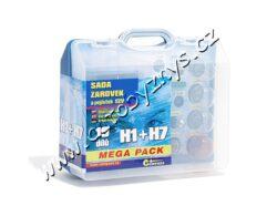 Sada žárovek 12V UNI MEGA BOX H1+H7+pojistky 08517