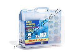 Sada žárovek 12V UNI MEGA BOX H7+H7+pojistky 08518