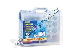 Sada žárovek 12V UNI MEGA BOX H4+H4+pojistky 08519