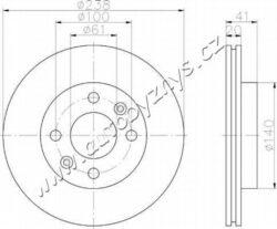 Brzdový kotouč přední Nissan,Renault 238x20 AP-průměr v mm: 238 sila brzdoveho kotouce v mm: 20 minimalni tloustka (v mm): 17,7 typ brzdoveho kotouce: větráno Počet děr: 4 Kruhový vyvrt ? 2 [mm]: 100 vyska ( v mm ): 41 Centrovaci prumer [mm]: 61 vnitřní průměr [mm]: 128 Vrt-? [mm]: 12,5