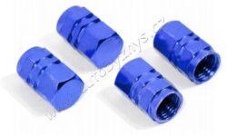 """Cap tyre valve """"HEXAGON""""blue-4pcs-Univerzální čepičky na ventilky, sada 4ks. Barva modrá."""
