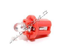 COMPASS Žárovka 12V 1LED B8,5D červená