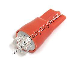 Žárovka 12V 4LED T10 červená 2ks