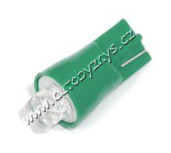Žárovka 12V 4LED T10 zelená 2ks-SLEVA 39%