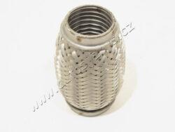 JMJ Vlnovec 45x120 VW vnější+vnitřní oplet+vnitřní zámek-Vlnovec výfuku 45x120 s vnějším a vnitřním opletem. Pružný člen kompenzátor výfuku.