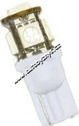 Žárovka 12V 5w LED w2,1x9,5d čirá SUPER