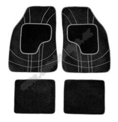 Koberce textilní NET šedé sada 4ks 31604