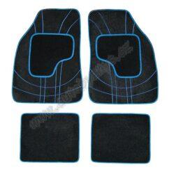 Koberce textilní NET modré sada 4ks 31605