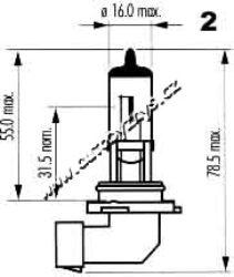 Žárovka 12V H8 35W PGJ19-1 EAGLEYE