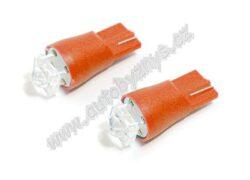 Žárovka 12V T10 SUPER LED červená 2ks