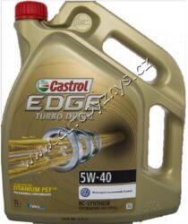 Olej motorový 5W-40 EDGE TITANIUM Turbo Diesel CASTROL 5L-VW 502 00 VW 505 00 VW 505 01 Ford WSS-M2C917-A ACEA A3/B3/B4 API SL/CF