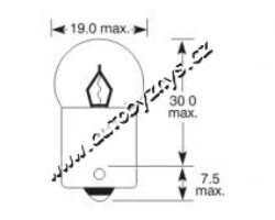 Žárovka 24V 10W Ba15s oranžová ELTA