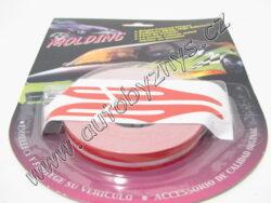 Páska samolepící červená 10m x 10mm