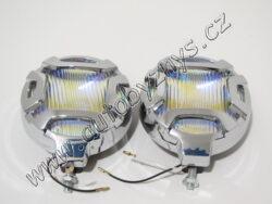 Světla mlhová kulatá bílá CHROM 120mm 2ks-SLEVA 40%