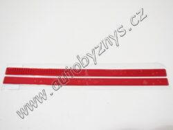 Odrazka reflexní obdélníková 45cm (sada 2ks)červená