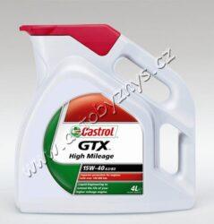 Olej motorový 15W-40 GTX High Mileage A3/B3 CASTROL 4L-Castrol GTX High Mileage 15W-40 A3/B4 je minerální motorový olej určený pro automobily s velkým kilometrovým proběhem. Poskytuje vynikající ochranu motoru při vysokém kilometrovém zatížení. Snižuje kouřivost a spotřebu oleje.  Splňuje specifikace: SAE 15W-40 ACEA A3/B4 API SL/CF Fiat 9.55535-D2 MB-Approval 229.1 VW 501 01/505 00