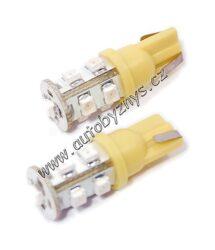 Žárovka 12V 9LED T10 oranžová 2ks-SLEVA 45%