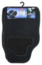 Koberce textilní ATOL 4ks černé-Univerzální textilní koberce do automobilu, sada 4 kusy (2x přední, 2x zadní díl). Zadní strana koberců s protiskluzovou úpravou zajišťuje jejich stabilní umístění ve voze.