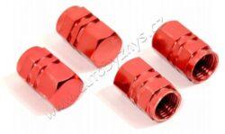 Čepičky ventilku HEXAGON červené sada 4ks 32332-Univerzální čepičky na ventilky, sada 4ks. Barva červená.