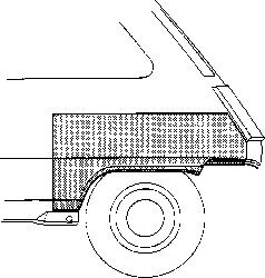 Lem blatníku  ZP Renault Twingo
