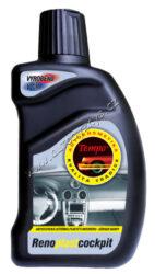 Renoplast COCKPIT 300ml TEMPO-Rozsah použití: Tempo Renoplast cockpit slouží k snadnému a účinnému ošetření přístrojové desky a dalších povrchů z plastů v interiéru automobilu. Po zaschnutí vytváří na plastovém povrchu elastický ochranný fi lm, který snižuje usazování prachu a oživuje barvy.