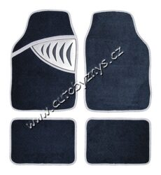 Koberce textilní SHARK šedé sada 4ks 04350-SLEVA 21%