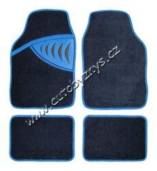 Koberce textilní SHARK modré sada 4ks 04351