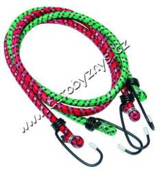 Gumicuky 2X80cm sada 02201-Elastické gumové popruhy, opletené polyesterem a zakončené oboustranně háky z ocelových poplastovaných drátů k uchycování zavazadel.