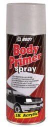 Základová barva BODY Primer - sprej 400ml - červeno hnědý-Rychleschnoucí akrylátový plnící a antikorozní základ ve spreji v odstínu šedém nebo červenohnědém. Používá se na kovové a i dřevěné povrchy.