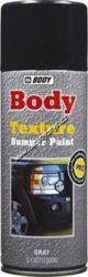 Nástřik na nárazníky a umělé hmoty BODY Bumper Texture 400 ml - sprej  - černý-Rychleschnoucí černá saténová strukturální barva určená k aplikaci na povrchy z umělé hmoty (nárazníky, zrcátka, spojlery). Může být použita jako základ nebo vrchní barva.