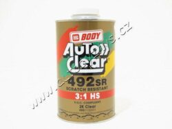 Lak bezbarvý 2K HS BODY 492 3:1 - 5 L-2K akrylátový  bezbarvý lak/brDvousložkový průhledný lak s vysokým a stabilním leskem.Schne uvnitř i vně stříkacího boxu.Je tvrdý a odolává mechanickým,chemickým a povětrnostním vlivům.Je vhodný pro bodové opravy laku i celolaky./brTuží se v poměru 3:1 tužidlem FAST(rychlé) 723 HS nebo 724HS STANDARD/brV případě púoužití tužidla BODY HS FAST je doba schnutí při teplotě 60°C 20 minut TUŽIDLO NENÍ SOUČÁSTÍ BALENÍ  TOTO ZBOŽÍ POUZE NA OBJEDNÁVKU.