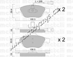 Brzdové destičky přední Alfa Romeo,Lancia 0660.02 REMSA-brzdovy system: Ate - Teves Sirka 1 [mm]: 155,3 vyska 1 ( v mm ): 59,4 Tloustka/sila 1 [mm]: 19 Sirka 2 [mm]: 156,5 vyska 2 ( v mm ): 63,8 Tloustka/sila 2 [mm]: 19 uzaviraci vystrazny kontakt: vcetne uzaviraciho vystrazneho kontaktu