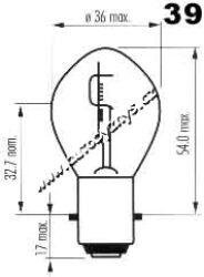 Žárovka 6V 15-15W Ba20d SUPERLIGHT
