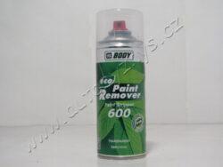 Odstraňovač starých nátěrů BODY 600 Paint Remover - sprej 400ml-pTransparentní nátěr vhodný pro odstraňování nátěrů všech kovových povrchů. Vhodný i pro čištění kreslících nástrojů (např. stříkací pistole, špachtle, atd.).Zůstává aktivní (30-60 min). Neovlivní kovové povrchy pod nátěrem, který má být odstraněn