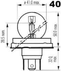 Žárovka 6V asym.P45t