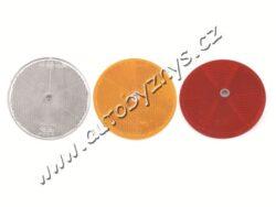 Odrazka s dírou průměr 80mm oranžová 4021005