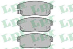 Brzdové destičky zadní Mazda,Suzuki LPR-brzdovy system: Akebono Sirka v mm: 105,7 vyska ( v mm ): 43 tloustka/sila( v mm): 14,4 zkusebni znacka: ECE R90 APPROVED uzaviraci vystrazny kontakt: s akustickou vystrahou opotrebeni
