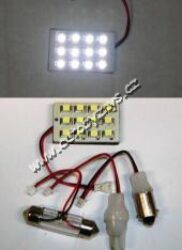 12V LED panel 12SMD 32x20mm čirý