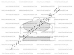 Brzdové destičky přední Ford Escort,Orion STARLINE-délka (v mm): 130,8 vyska ( v mm ): 57,3 tloustka/sila( v mm): 17,9 brzdovy system: Bendix