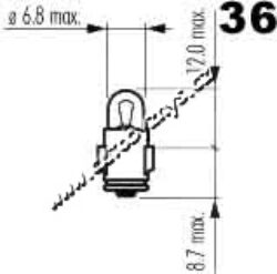 Žárovka 6V 1,2W Ba7s