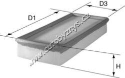 Filtr vzduchový Citröen AX/BX/C5/C8/Evasion/Jumpy/Xantia,Break/ZX/ Fiat Scudo(MA642)